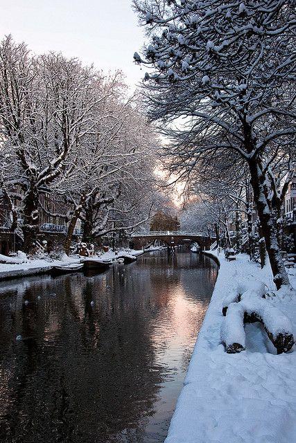 Winter at Oudegracht, Utrecht Holland