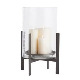 Bowen Large Hurricane  Contemporary, Industrial, Transitional, Metal, Candles  Candleholder by Arteriors