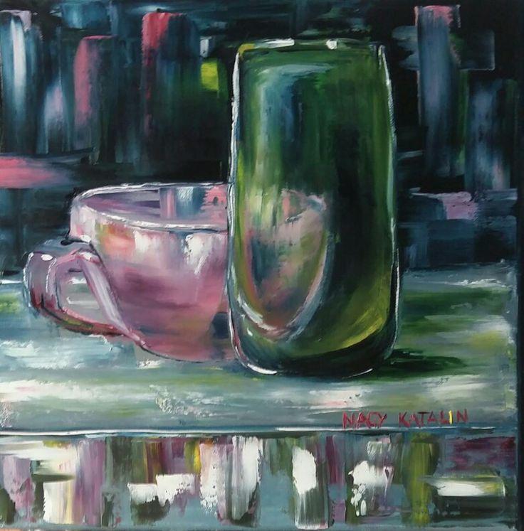 Based on Cathlen Rehfeld's painting 40x40 oil canvas