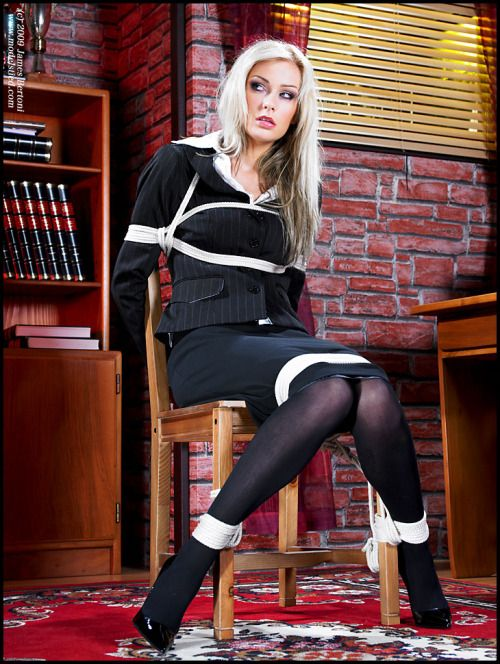 Naughty Blonde Tied Up 42
