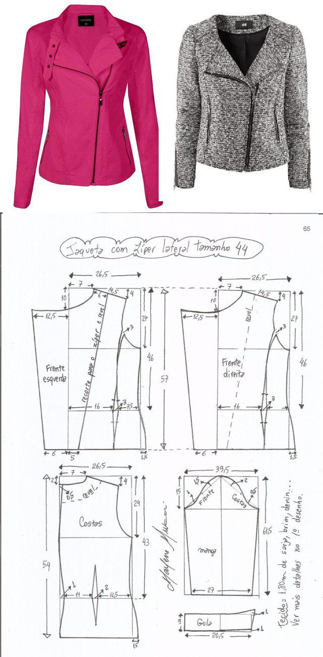 Выкройка женской куртки-косухи (Шитье и крой) | Журнал Вдохновение Рукодельницы