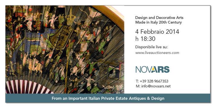 TODAY - Nova Ars Auction live on liveauctioneers.com - h 18.30