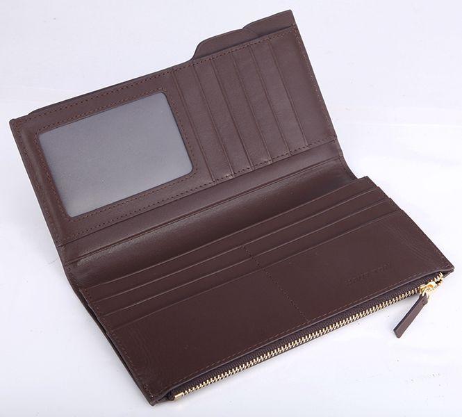 Hautton Brown Leather Slimline Wallet