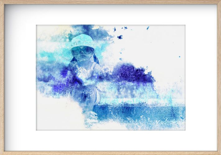 Watercolour Wash - Shades of Blue  www.mynarrartive.com