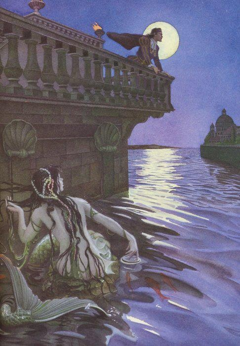 Charles Santore's The Little Mermaid. I love Disney, but go to Hans Christian Anderson if you want the real soul of this story. :)
