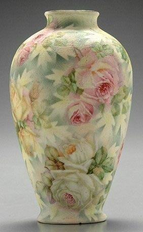 Royal Bayreuth Rose Tapestry Vase, 19th Century