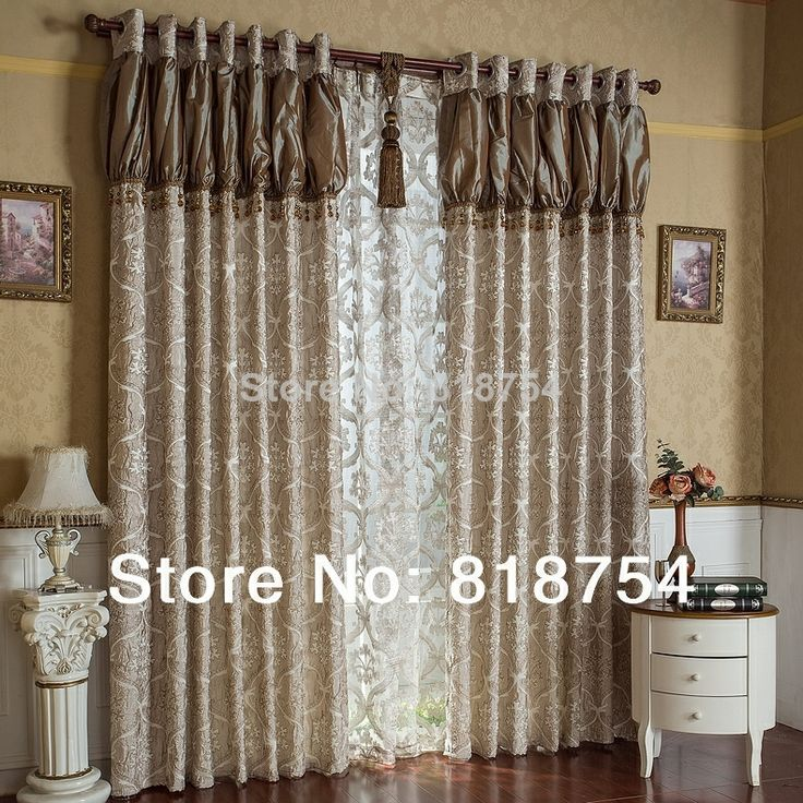Home Curtain Design Living Room Curtains Luxury Jacquard Romantic Bedroom Window Blind Decorative Curtains For Window