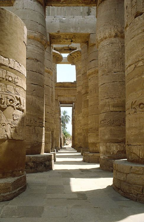 Hypostyle hall in Karnak temple, Egypt