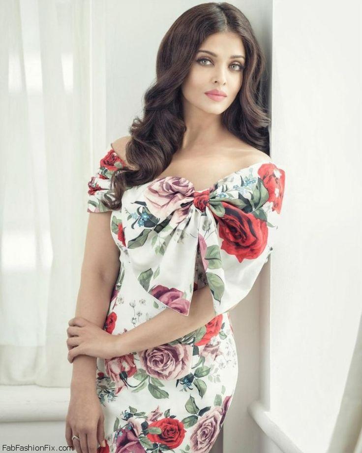 Gorgeous Aishwarya Rai Bachchan in floral gown for Filmfare magazine June 2016. #aishwaryarai #bollywood