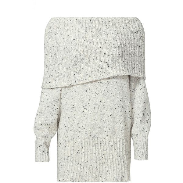 Rental Joie Porcelain Tweed Femie Sweater ($60) ❤ liked on Polyvore featuring tops, sweaters, dresses, shirts, jumper, grey, off the shoulder long sleeve shirt, shirt sweater, gray shirt and long sleeve sweater