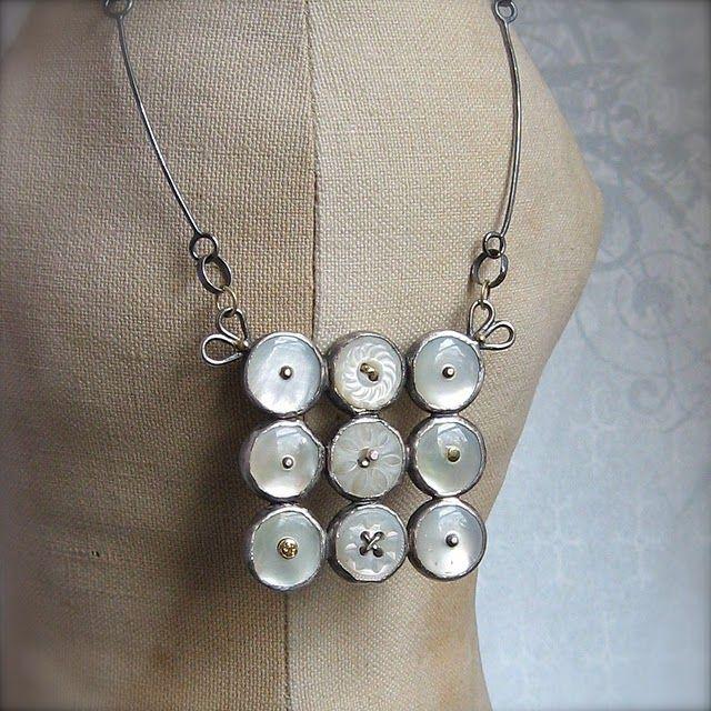 beautiful button pendant