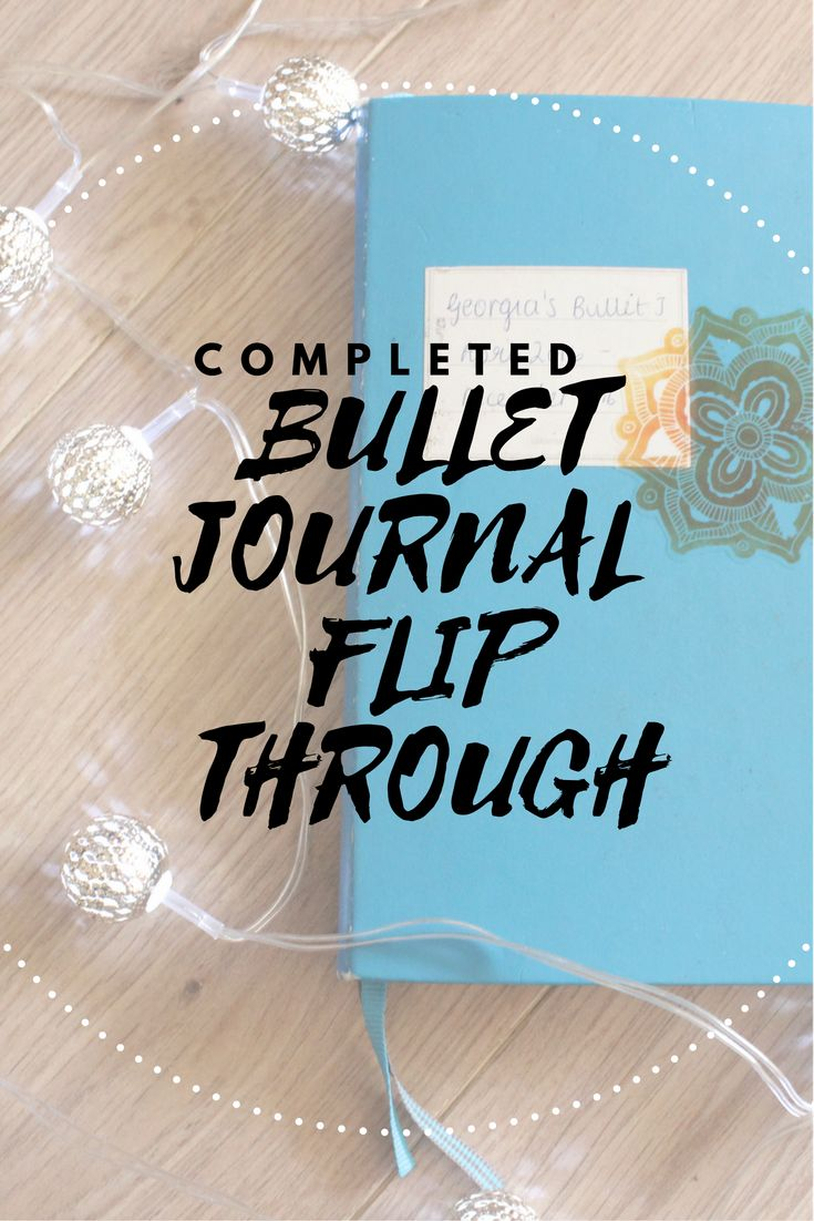 completed bullet journal flip through! take a peek into my first bullet journal with new spreads and ideas!