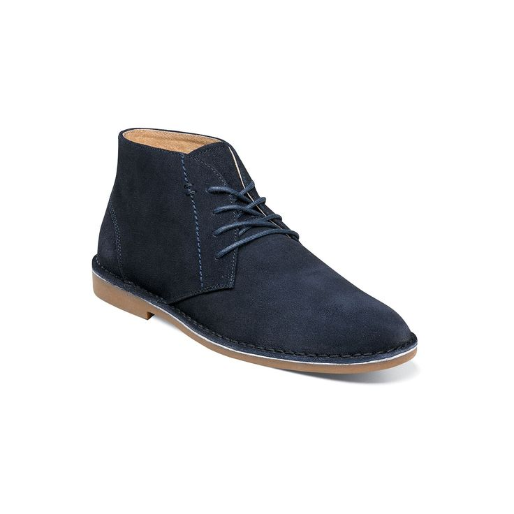 Nunn Bush Galloway Men's Suede Chukka Boots, Size: medium (10.5), Blue (Navy)