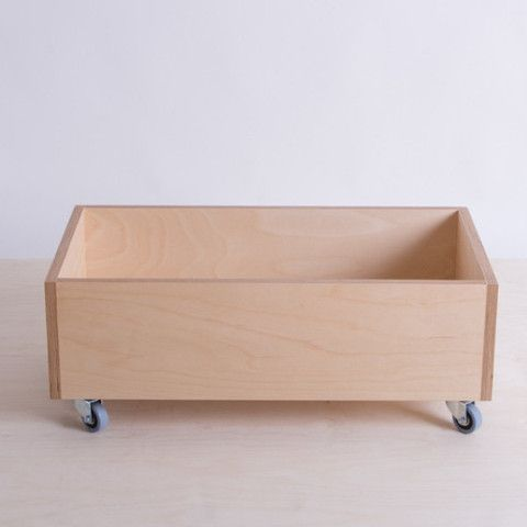 Birch Plywood Storage Bin Moveable The Plywood Box Co