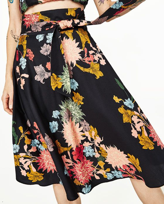 Image 7 of FLORAL PRINT SKIRT from Zara