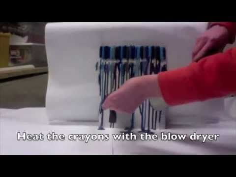 Melted Crayon Canvas Umbrella - YouTube