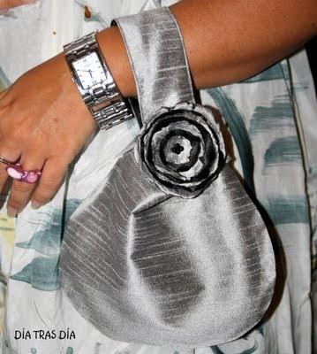 Silk Japanese bag