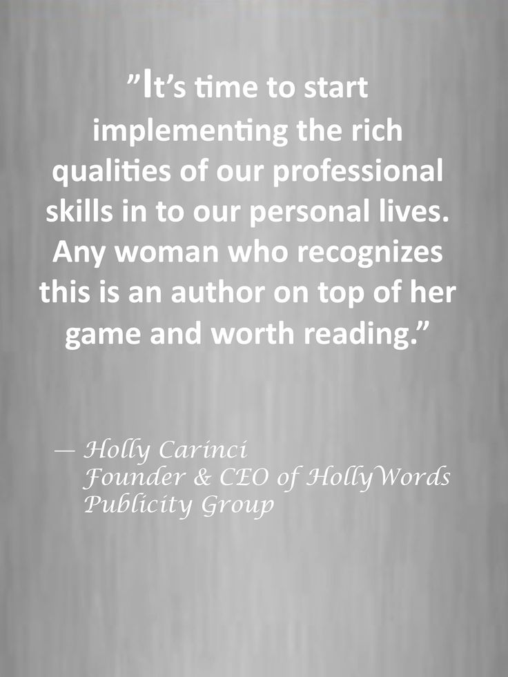 """""""Any woman who recognizes this is an author on top of her game and worth reading."""""""