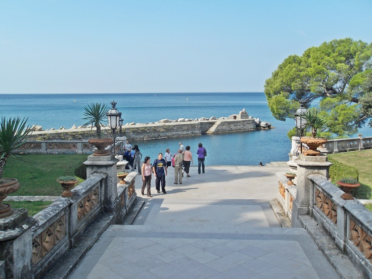 Trieste, Italy : a view from Miramare Castle