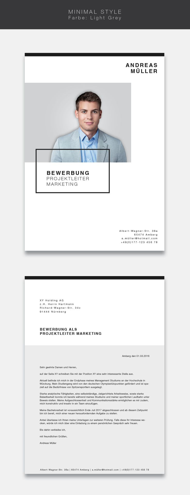 16 best Bewerbung images on Pinterest | Resume design, Resume and ...