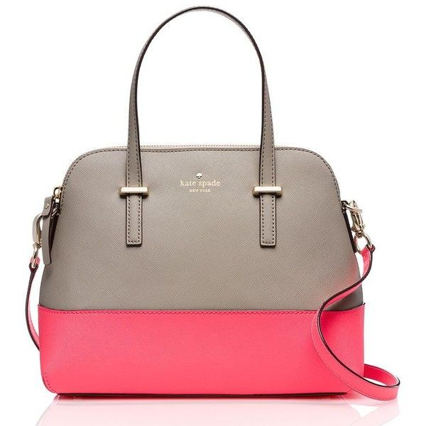 Kate Spade Cedar Street Maise ($298) ❤ liked on Polyvore featuring bags, handbags, shoulder bags, satchels, leather purse, brown leather shoulder bag, handbags & purses, handbags shoulder bags and leather handbags