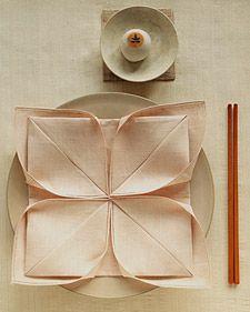 How to make a Lotus Napkin Fold
