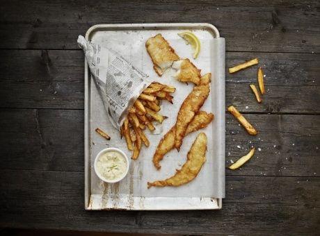 Fish & chips a domácí tatarka