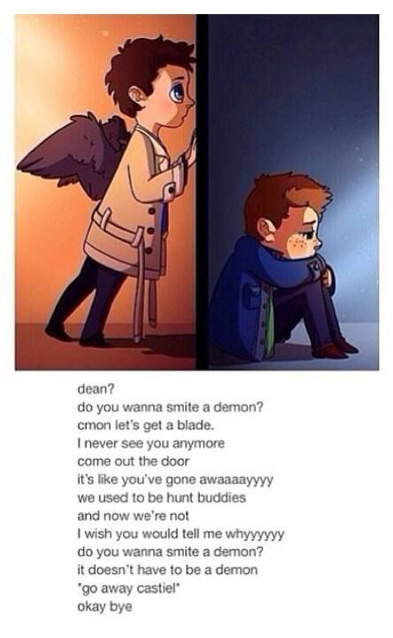 Supernatural, frozen, dean, castiel, do you want to build a snowman, do you want to smite a demon