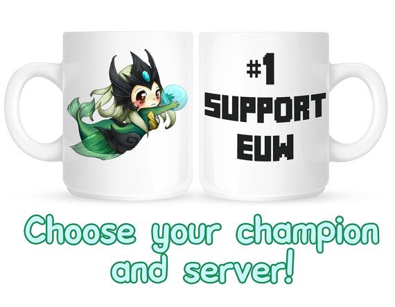 League of legends  1 SUPPORT mug by linkitty on Etsy, €12.00