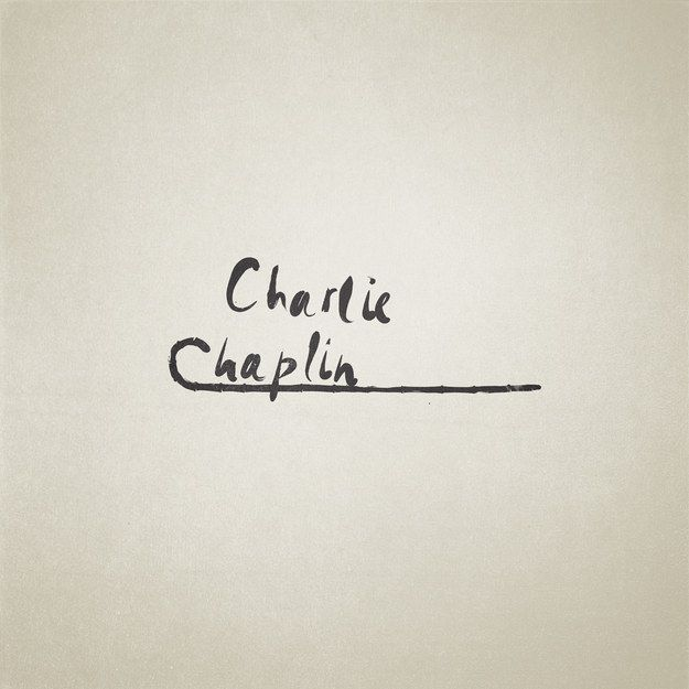 Charlie Chaplin: | These Minimalist Illustrations Of Famous Names Are Perfect