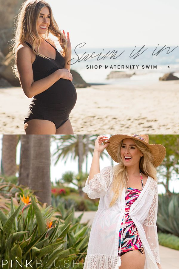 Shop cute and trendy maternity swim wear for summer!