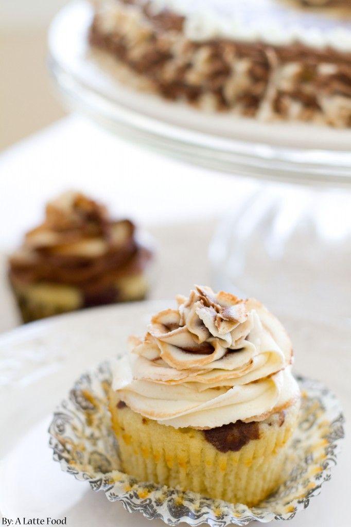 Chocolate Vanilla Marble Cupcakes: Dense yet light and packed with intense vanilla and chocolate flavor! Topped with a chocolate vanilla swirled buttercream.