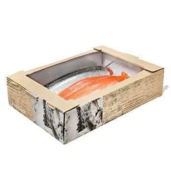 Il EcoFishBox è l'imballaggi per il trasporto di pesce fresco e trasformato costituito da fibra rinnovabile, un'alternativa ecologica per l'industria del pesce, dove gli imballaggi in EPS (polistirene) sono ampiamente usati.