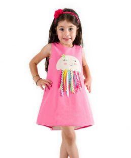 Handmade girls dresses applique summer dresses