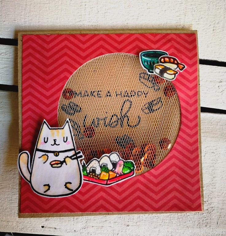TULLE+SHAKER+CARD - Scrapbook.com #mamaelephant #tulleshakercard #shakercard #birthdaycard #handmadecard