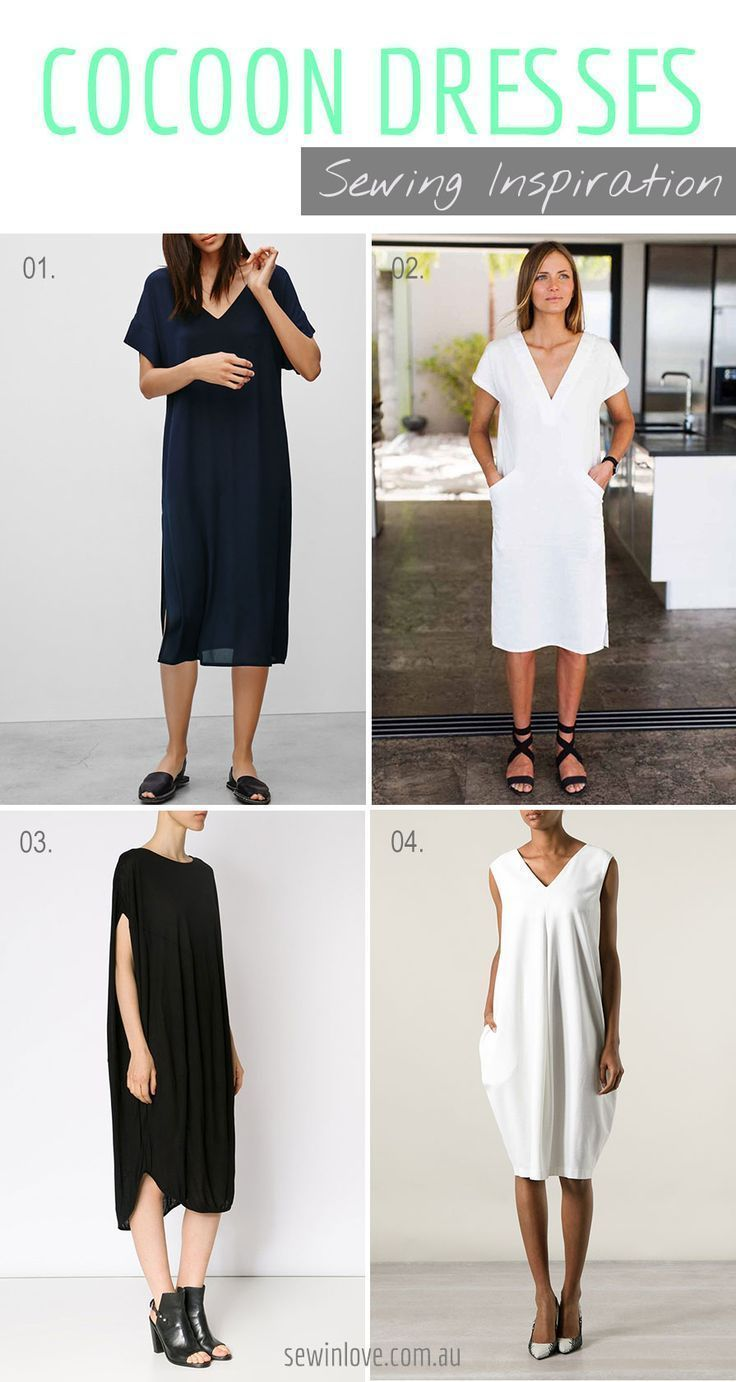 Cocoon dresses look so comfortable. I really like the minimalist chic look as well. Putting ideas together to see if I can do a DIY cocoon dress. Here's a code to get 15% off my ebooks: PINTEREST15
