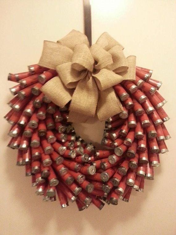 Absolutely the BEST looking shotgun shell wreath I've seen! 14 inch wreath with…