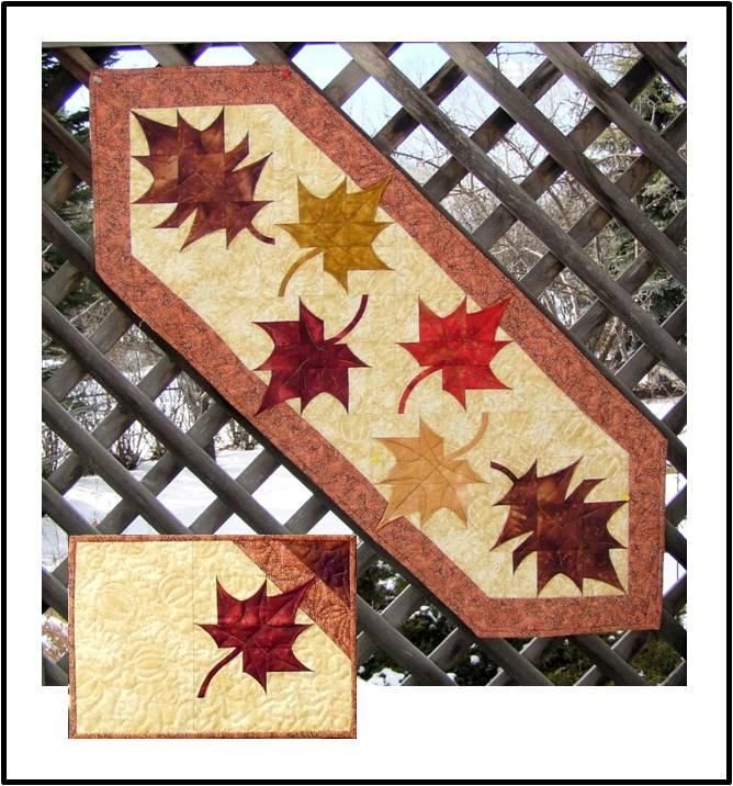 Falling Leaves Table Runer Placemats Nice Home And