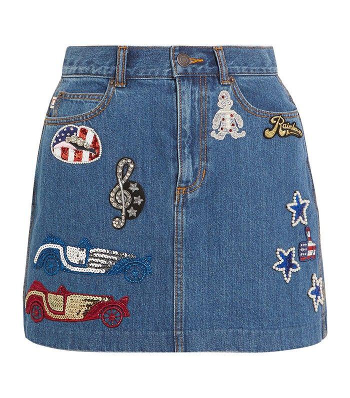 12 Fashion Girl-Approved Denim Skirts via @WhoWhatWearUK