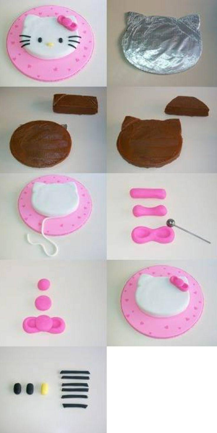 Hello Kitty Cake Tutorial