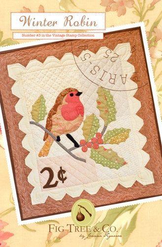 Winter Robin Bird Wall Hanging Pattern - Fig Tree & Co - Seasonal Mini Quilt 3. $8.95, via Etsy.