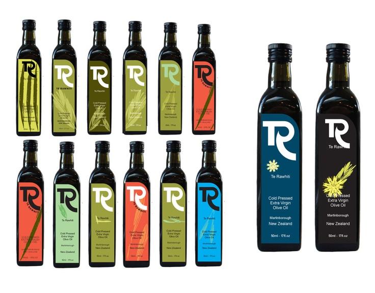 Branding design for Te Ra Olives by Danielle Collis.