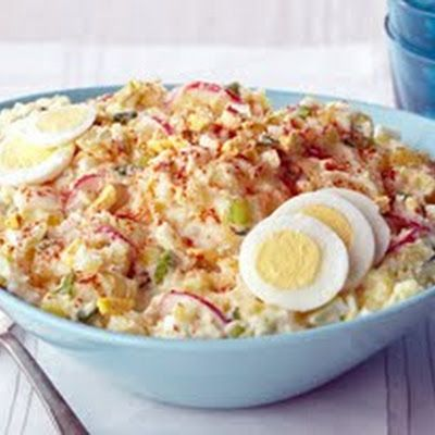 Country Style Smashed Potato Salad | FOOD | Pinterest