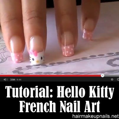This almost makes me wanna get my nails done!  Hello Kittie!