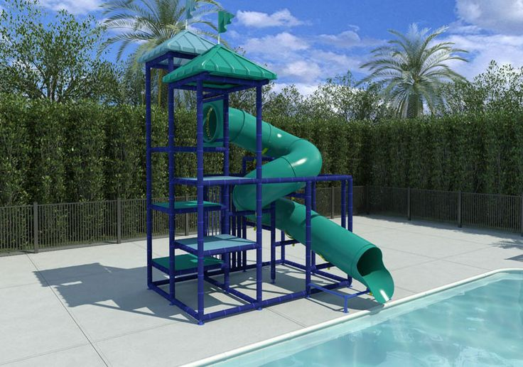 17 best ideas about above ground pool slide on pinterest - Swimming pools in liverpool with slides ...