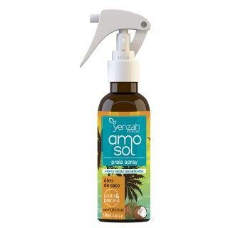 Spray AMO Sol Yenzah  é ideal para praia e piscina. Cuida dos cabelos nos momentos de lazer que estão entre os preferidos das brasileiras e protege os fios do sol e das agressões dos dias quentes. Spray AMO Sol Yenzah  é proteção, hidratação e sedosidade para os fios!  • Para usar na praia ou fora dela, o Praia Spray Yenzah AMO Sol promove um penteado bem praiano • Destaca as ondas dos cabelos e forma leves ondas nos cabelos mais lisos • Em cabelos lisos e ondulados, dá o perfeito ondulado…