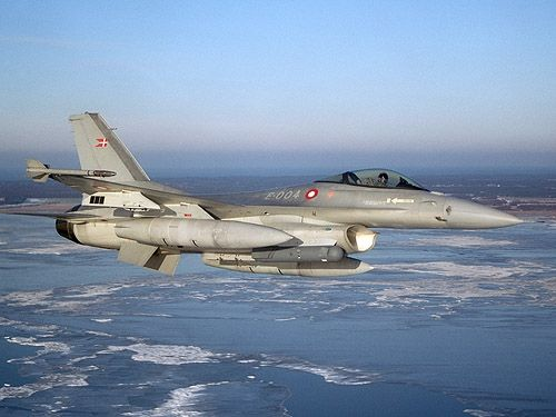 Danish Air Force F-16 Fighting Falcon.