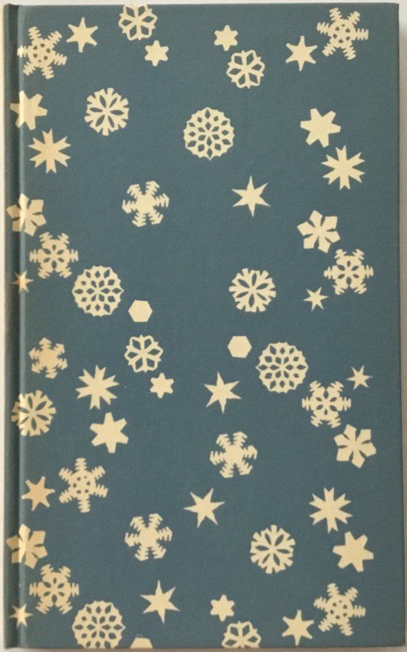 Charming Winter Poems, John Greenleaf Whittier, Snow Bound, Peter Pauper Press, White Snowflakes, Blue Blackground, Hardcover, Slipcase Gift