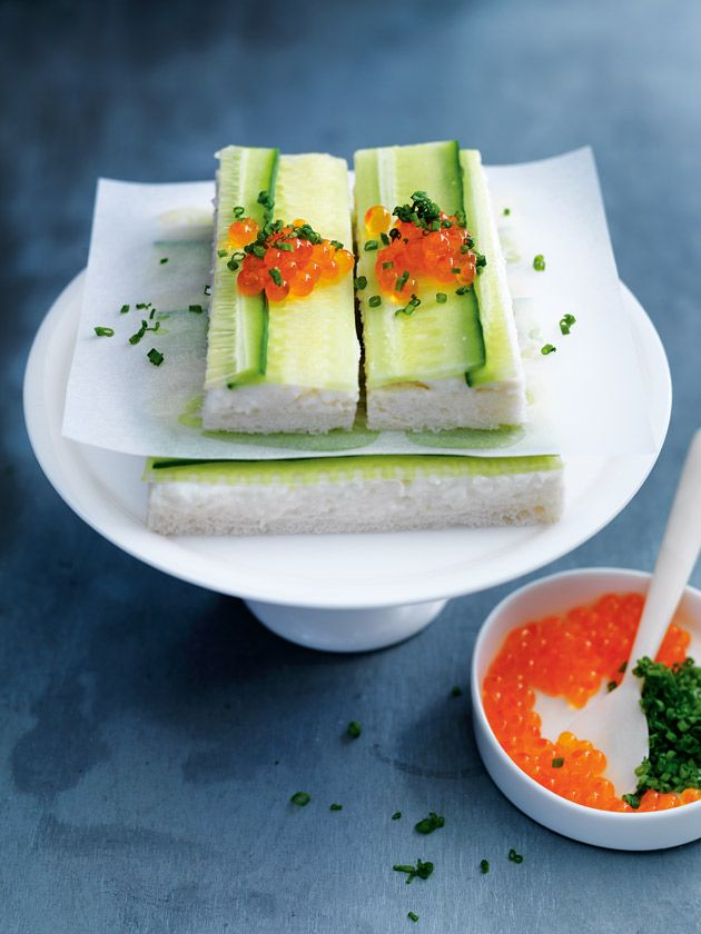 crab and cucumber sandwiches from donna hay