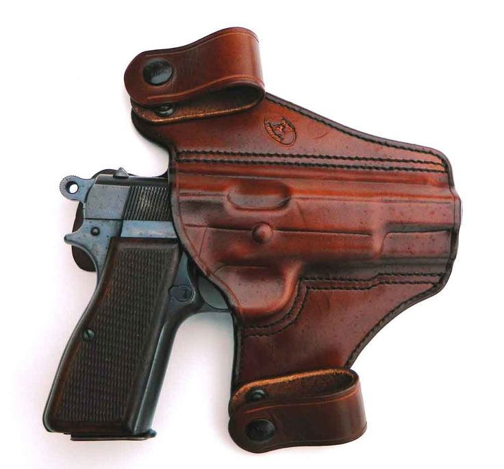 Browning Hi Power in leather IWB holster Find our speedloader now! http://www.amazon.com/shops/raeind